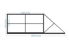 Ворота откатные 3500х1900 мм (каркас)
