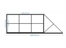Ворота откатные 4000х2100 мм (каркас)